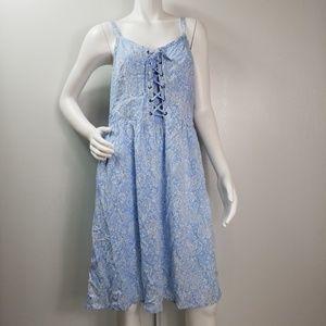 Torrid Dress Size 2X Floral Lace Up Front 2339